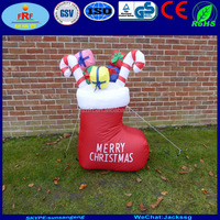 Promotion PVC Inflatable Christmas Stocking