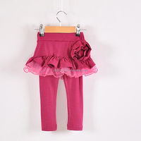 Hot Sale Party Girl Leggings Roses Cotton Korean Style Baby Pantskirts For Kids Trousers PT40823-22