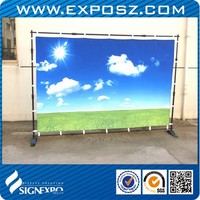 Advertising Jumbo banner stand for display