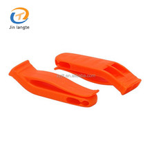 High quality plastic marine safety life jacket whistle with support clip