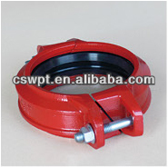 FM certificate & UL listed & ULC listed Angle Bolt Pad Coupling Roll Grooved