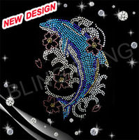 beautiful Swim Mom With Fish rhinestone motif design