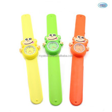 cute animal silicone kids digital slap watch