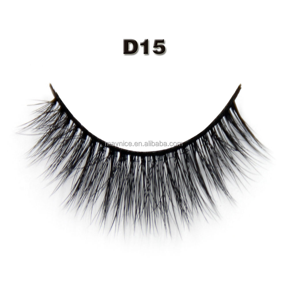 Maynice makeup 3D fiber faux eyelash with tool best quality <strong>D15</strong>