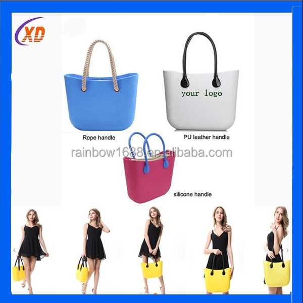 New design women tote bags rubber silicone jelly handbags