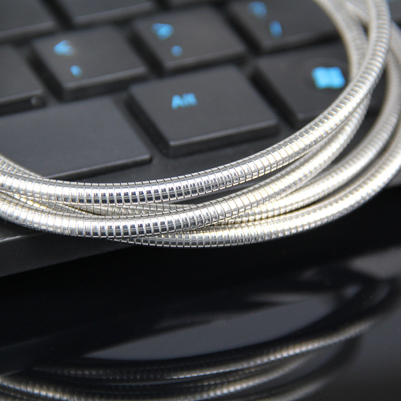 spring USB cable metal micro usb cable USB cable for Apple