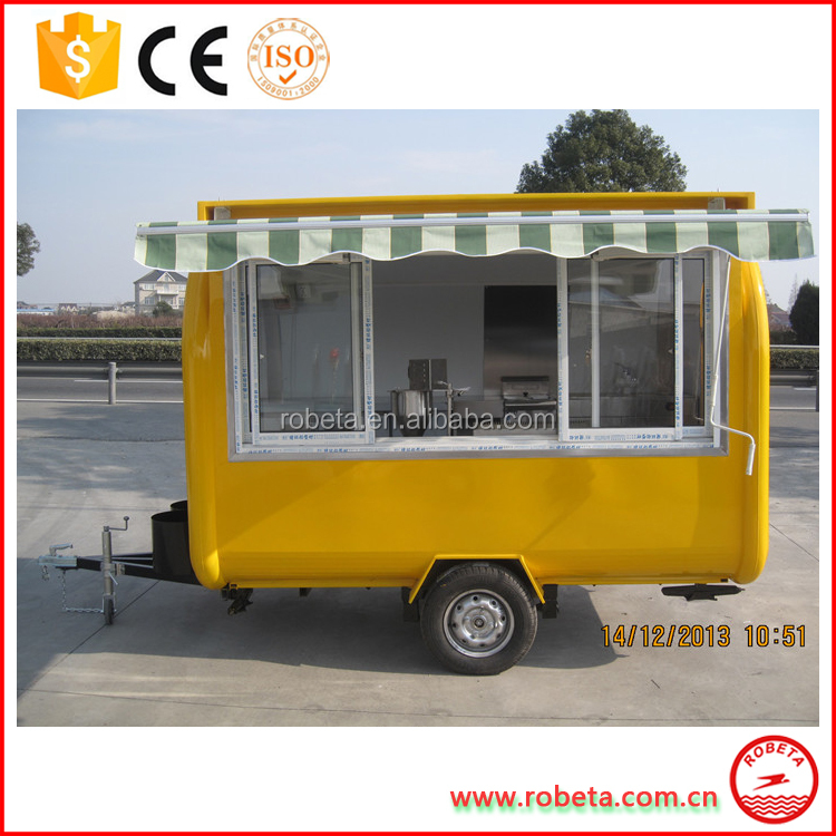 Mobile BBQ Used Fast Food Trailer Cart for Sale/ Mobile Hamburg Carts