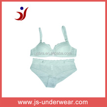 see though underwear transparent bra and panty set white lace dot printed bra name brand China factory (accept OEM)