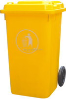 Hot for sale eco friendly 120L orange plastic parts storage bins plastic toy storage bins