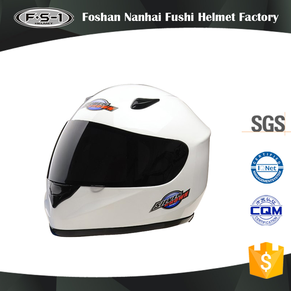 Customized white color cascos motocross helmet with camera motorcycle helmet