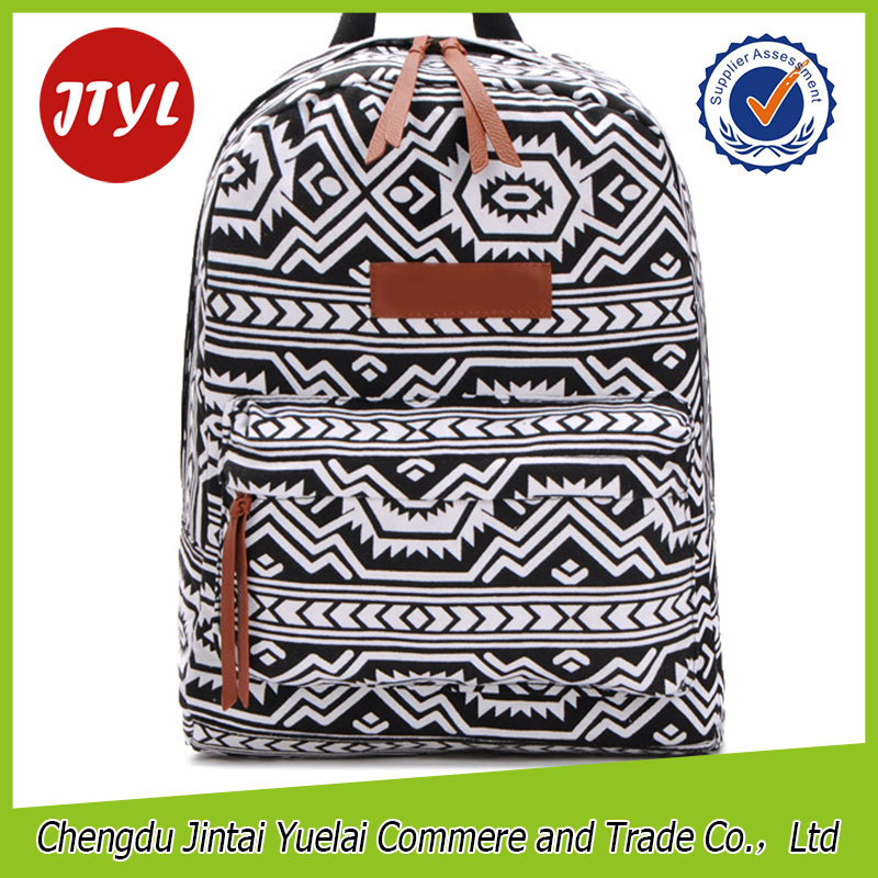 Wholesale Geometric Print Ransel Bags Fashion Mochilas Cute Girl's Backpacks for Teens