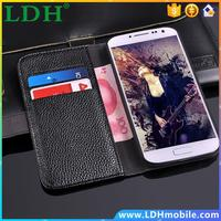 New Vintage Lichi Grain Case for Samsung Galaxy S4 S IV I9500 Wallet Stand Top Quality PU Leather Cover Phone Bags RCD HLC0051