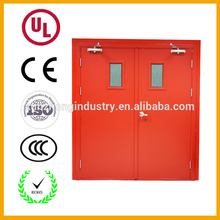 Wholesale price of fire rated doors hotel residential decorative fire rated steel doors with double vision panel