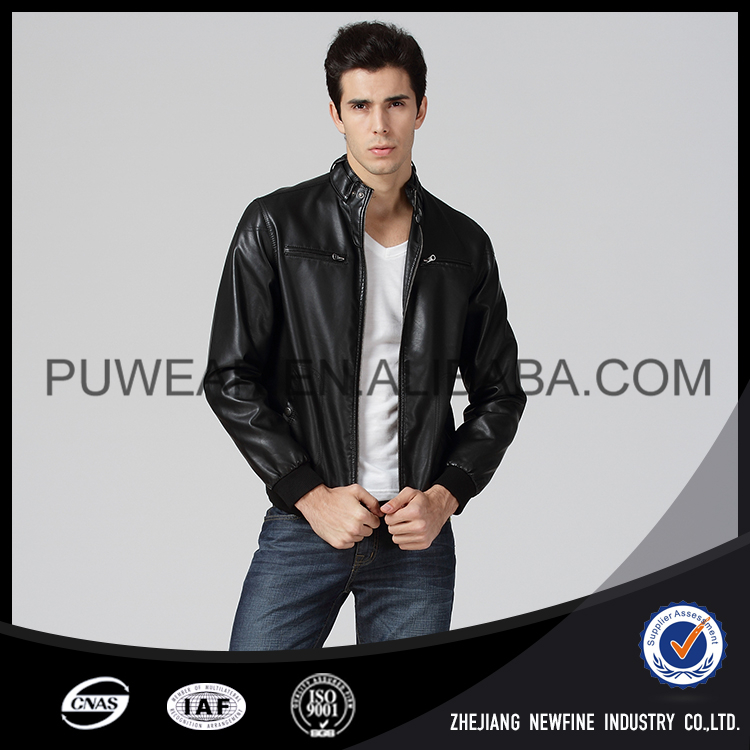 Excellent Quality Waterproof Elegant Sexy Men Leather Jacket