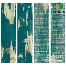 150x600mm Colorful Spruce Wood Design Tiffany Color Ceramic Tile Wood Flooring tiles