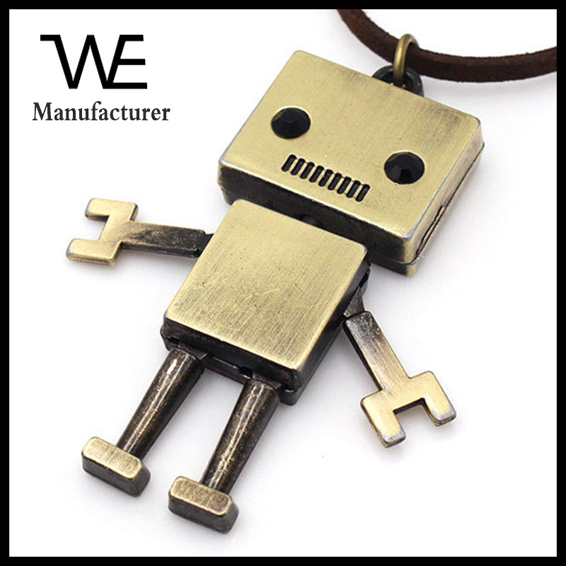 Wholesale New Custom Solid Alloy Material Robot Fashionable Necklace