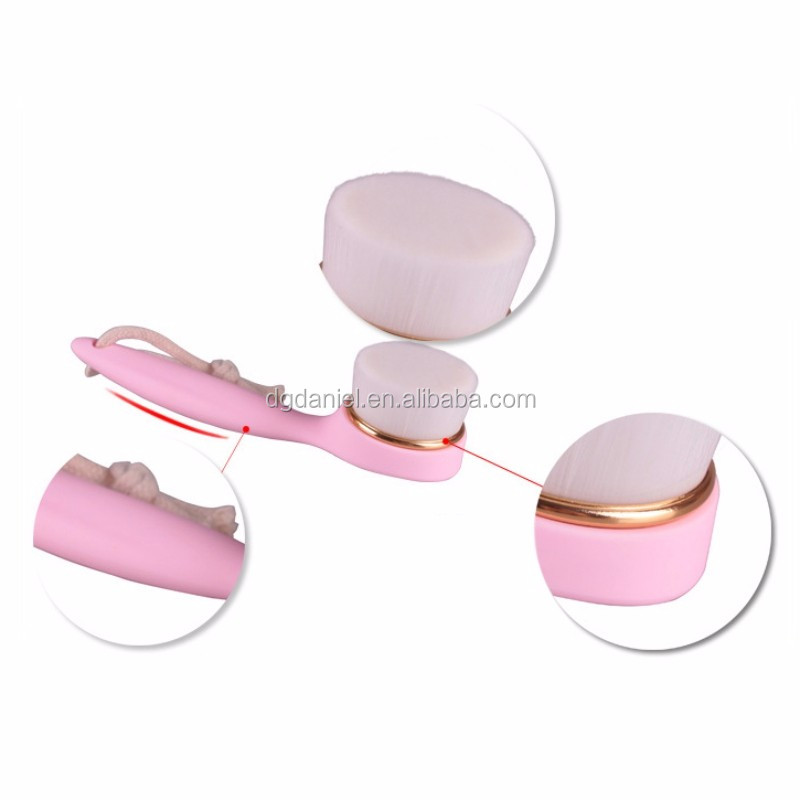 New arrival hot sale long plastic handle wash face makeup brush
