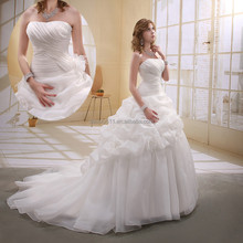 Wholesale Astergarden ball gown wedding dress Organza Strapless Long Trailing Bridal Gowns AS003