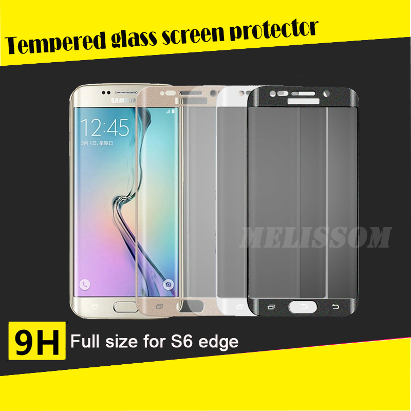 Full Screen Tempered Glass Screen Protector For SAMSUNG S6 Edge 3D Design Curved Protective Film HD Anti-Explosion Screen Cover