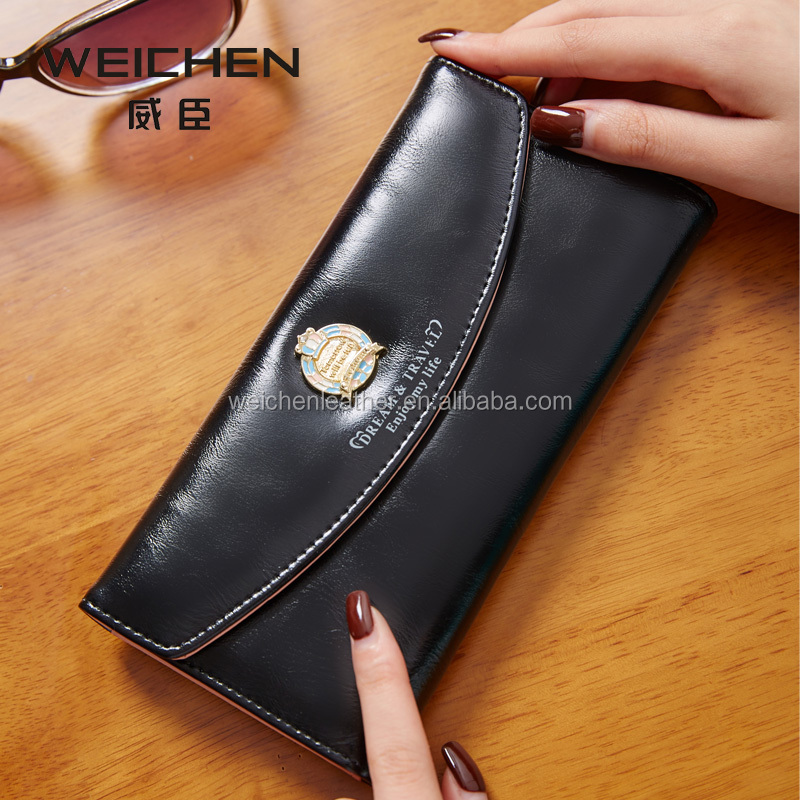 FACTORY DIRECT WEICHEN PU LEATHER HIGH QUALITY FASHION ELEGANT LEATHER LADIES PURSE