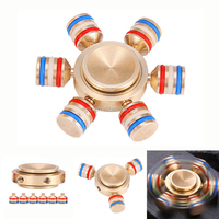 Brass Hexagonal Rotating Fidget Hand Spinner