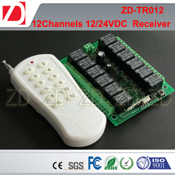 12 Channel Long Range Customize RF Transmitter And Receiver 220V/12V24V