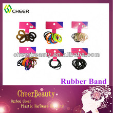 colorful polyester elastic rubber hair bands for men