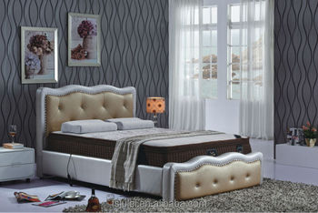 new design high quality modern furniture leather bed