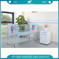 AG-CB003 Cheap pediatric hospital bed with wheels