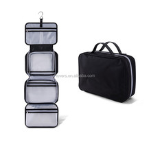 Detachable Compartment Hanging Toiletry Bag Travel Kit for Men and Women