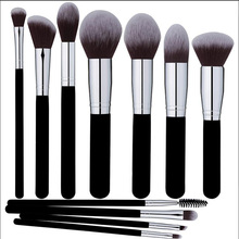 Professional Makeup Brushes Set Face Eyeshadow Blending Contouring Foundation Premium Synthetic Bristles Round Kabuki and Angled