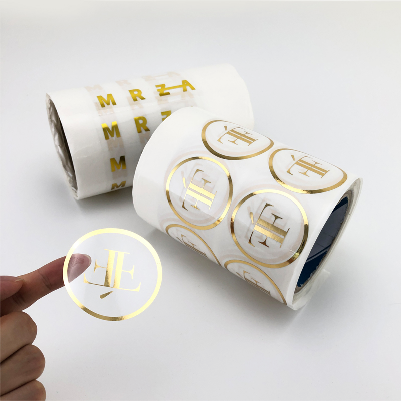 Adhesive Gold Foil Sticker Printing Round Stickers With Logo Custom