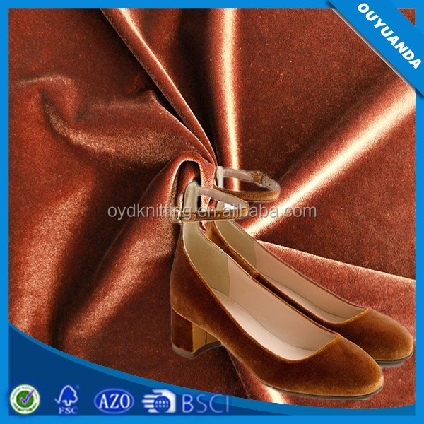 2017 New Design Korean Style Velvet Fabric for Velvet Shoes/Velvet Clothes/Velvet Suits