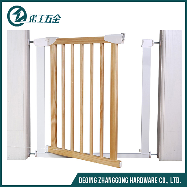 Extra wide pet gate with door custom safety wood fence gate