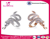 Sunshine Jewelry Curve Plus Size Antique Style Snake Cocktail Rings for men ( women)