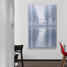 Modern eco-friendly Design interior wall decoration triptych oil painting