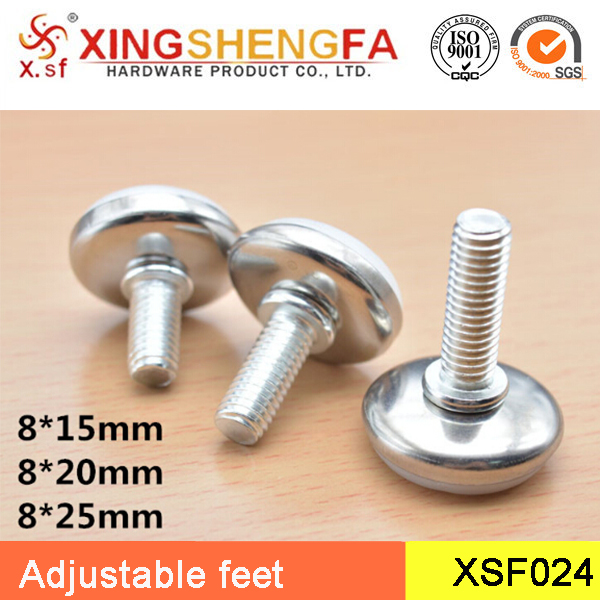 Furniture adjustable feet stainless steel white furniture foot pad