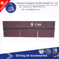 Hotsale 3-tab fiberglass asphalt roofing shingles/cheap building material made in China
