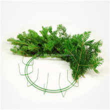 HR Christmas wreath / wire wreath frame with decoration for Chrismats