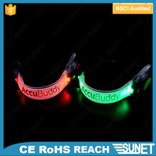 Wholesale battery replaceable reflective safety night running light led armband