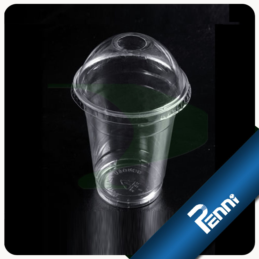 9oz Plastic Drinking Cup With Lid And Straw