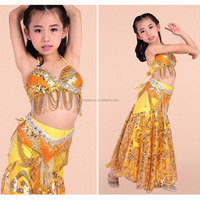 BestDance Sexy Girl New Belly Dance Costumes Bra&Belt&Skirt Set Indian Dancing Dresses for Girl