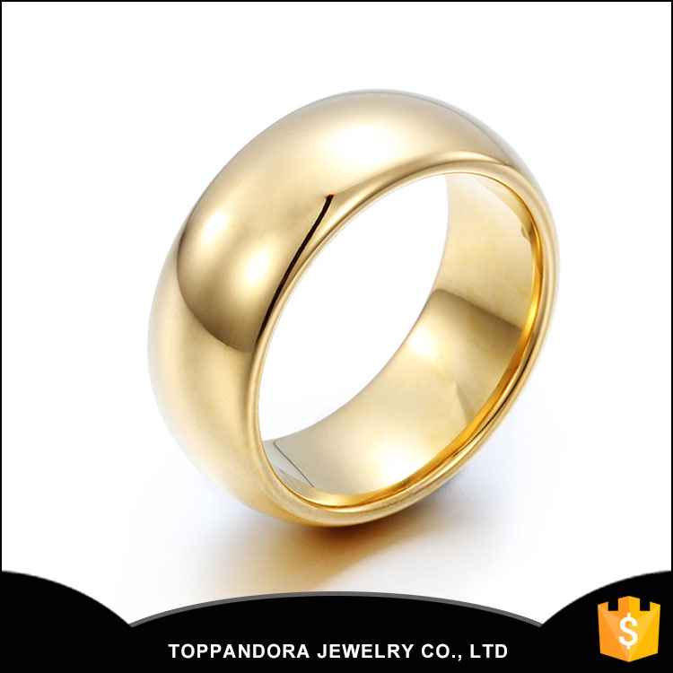 Fashion jewelry Mens gold ring wholesale men stainless steel ring with high quality stainless steel make in china