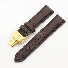 Heyco high quality exotic skin ostrich leather one piece woven watch band