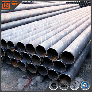 Large diameter spiral steel pipe on sale in stock, hot sell din piling ssaw spiral steel pipe
