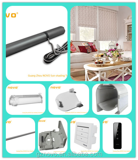 Novo Roman Shade Parts Electric Roller Blind Motor For
