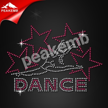 custom rhinestone transfer born to dance iron on for for T-Shirt
