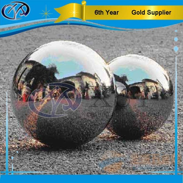 alibaba gold supplier mirror stainless steel ball, christmas hollow steel ball, mirror steel ball