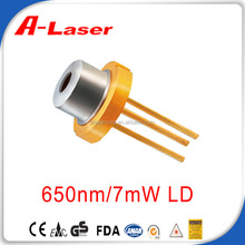 High Performance 650nm 7mW 70 Temperature Red Laser Diode
