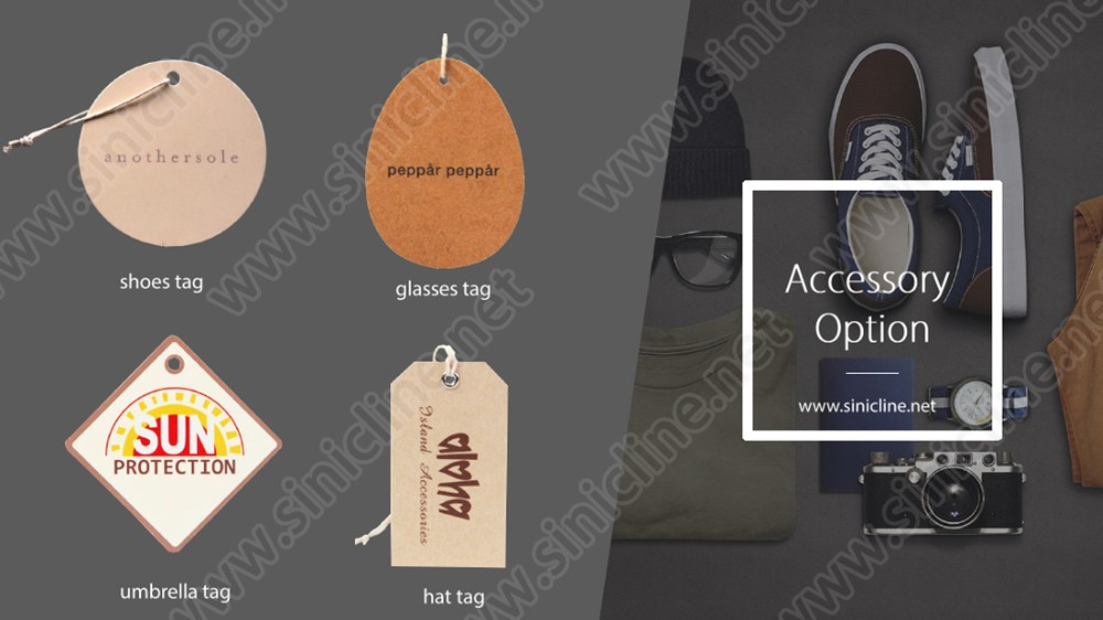Sinicline custom cheap cardboard swing tags